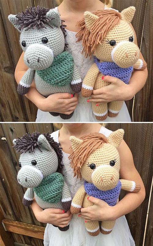 Amigurumi Horse & Donkey - Free Crochet Pattern