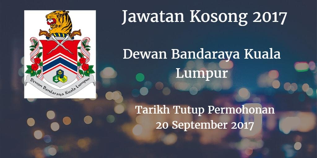 Jawatan Kosong DBKL 20 September 2017