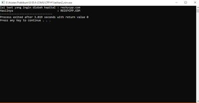 Program C++ Untuk Mengubah Text Menjadi Kapital atau Sebaliknya