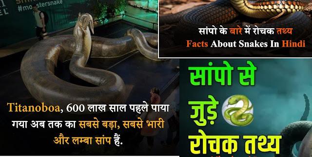 Interesting Facts about Snakes in hindi सांप के बारे में मजेदार तथ्य !!