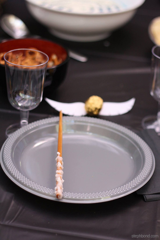 Harry Potter birthday party table setting