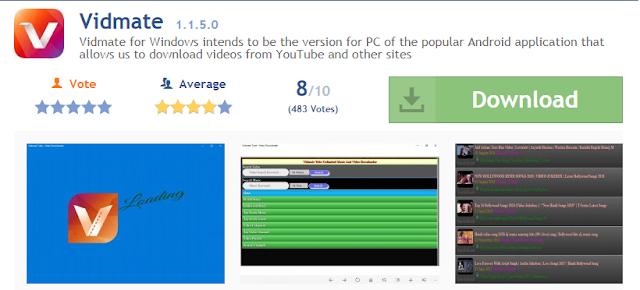 تحميل Vidmate 1.1.5.0 للويندوز كمبيوتر وهاتف