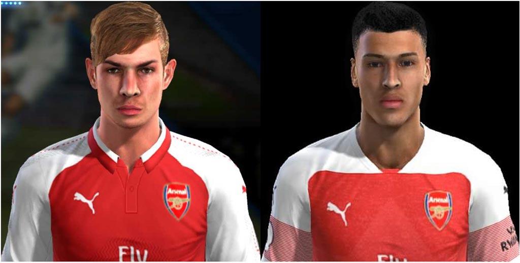 PES 2013 Faces Emile Smith Rowe & Gabriel Martinelli (Arsenal FC)