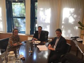 Δελτίο τύπου της συνάντησης του Δημάρχου Πύδνας Κολινδρού με τον Γ.Γ. Υποδομών κ. Δέδε