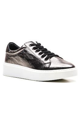 nikel gerçek deri bayan ayakkabısı