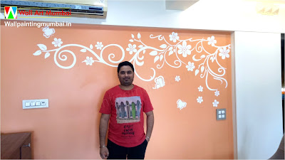 Floral Wall Art Painting for Home Mumbai | Wall Art Mumbai | Wall Mural Artist In Mumbai