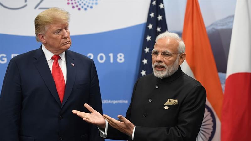 US President Trump and India's PM Narendra Modi