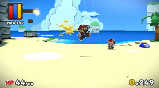 Paper Mario Color Splash experience points paint globs maximum