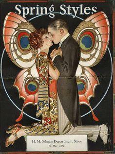 JC Leyendecker, 1923 Advertisement for Spring Styles