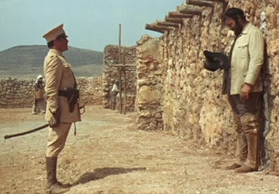 Rod Steiger as Mexican bandit Juan Miranda faces the Firing Squad in Duck, You Sucker, Directed by Sergio Leone