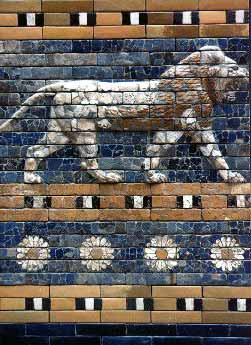 Mosaic from the Ishtar Gate - Public Domain, Wikipedia.org