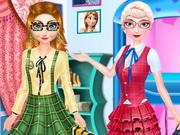 اخوات فروزن في المدرسة