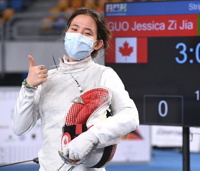 Jessica Guo Canada Fencing Foil Esgrima florete sensação