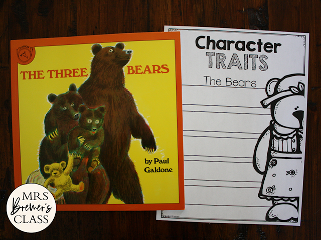 Goldilocks Fairy Tales activities unit with Common Core aligned literacy companion activities for First Grade and Second Grade