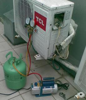Langkah vacuum AC split