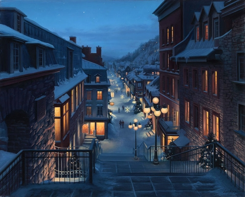 18-Old-Quebec-Evgeny-Lushpin-Scenes-of-Realistic-Night-Time-Paintings-www-designstack-co