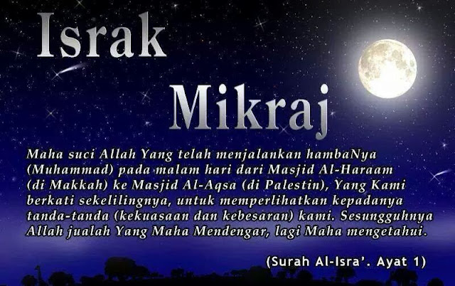 Memperingati Peristiwa Israk dan Mikraj