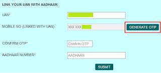 Link UAN with Aadhaar