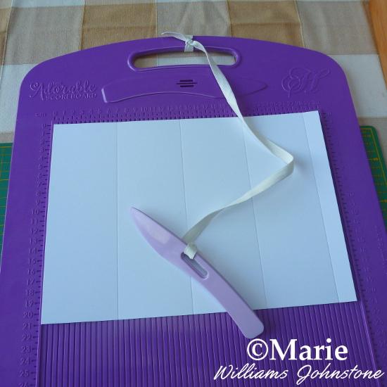 Adorable scorable Hunkydory purple craft scoreboard score board scoring A4 sheet of card