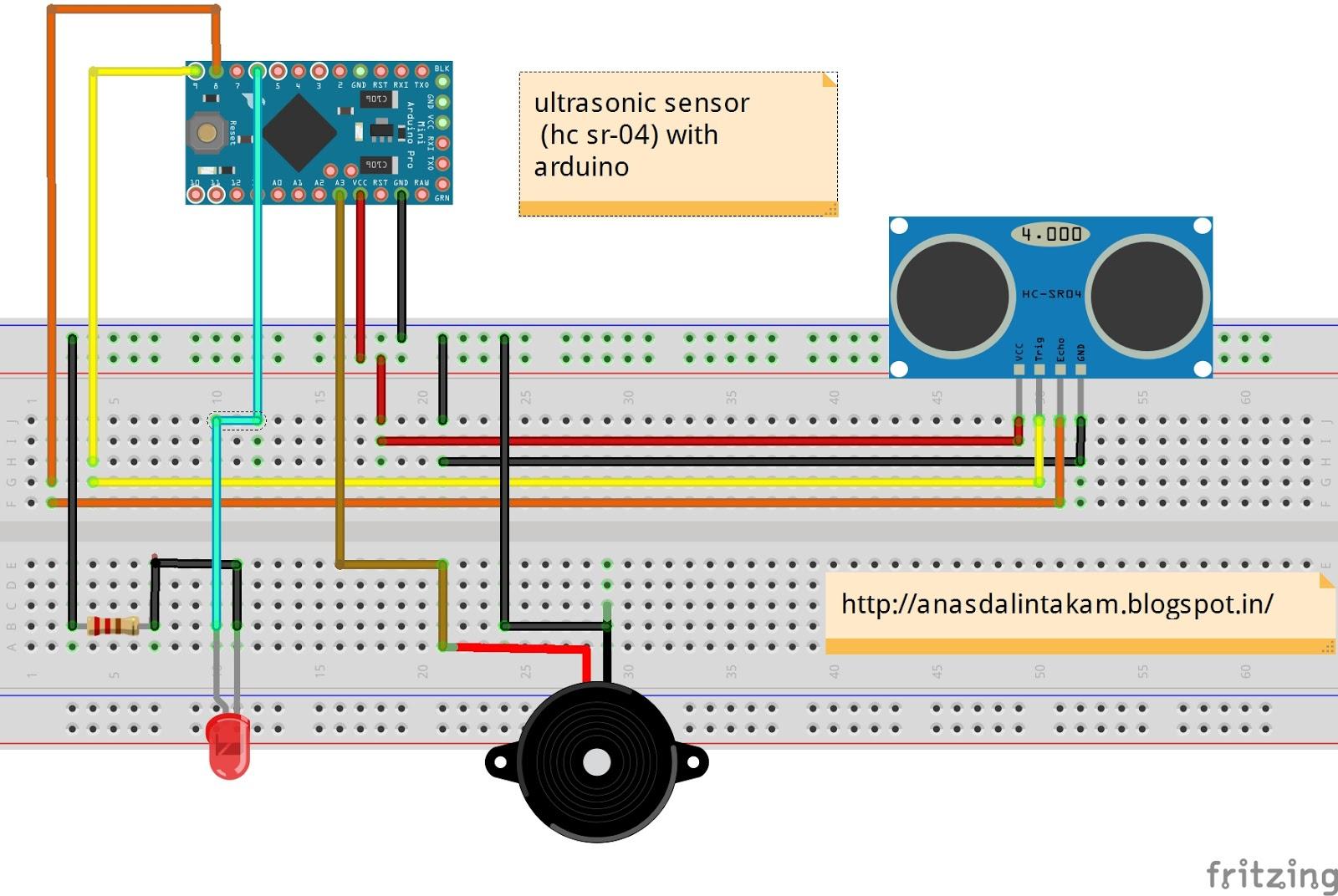 wiring it my way playing with hc sr04 ultrasonic ranging module