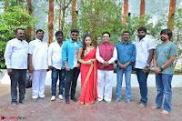 Bhimbika in Red Orange Saree at Sikhandi Movie Launch Spicy Pics 7.jpg