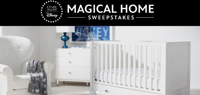 Together, Disney and Ethan Allen is giving you a chance to enter to win an Ethan Allen gift certificate worth as much as $15,000 to incorporate Disney into your home in a beautiful way.