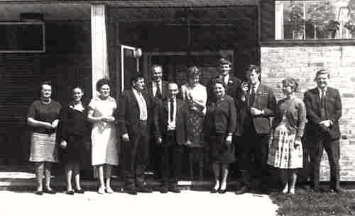 Photograph of Chancellor's staff summer 1966 image from L Caras