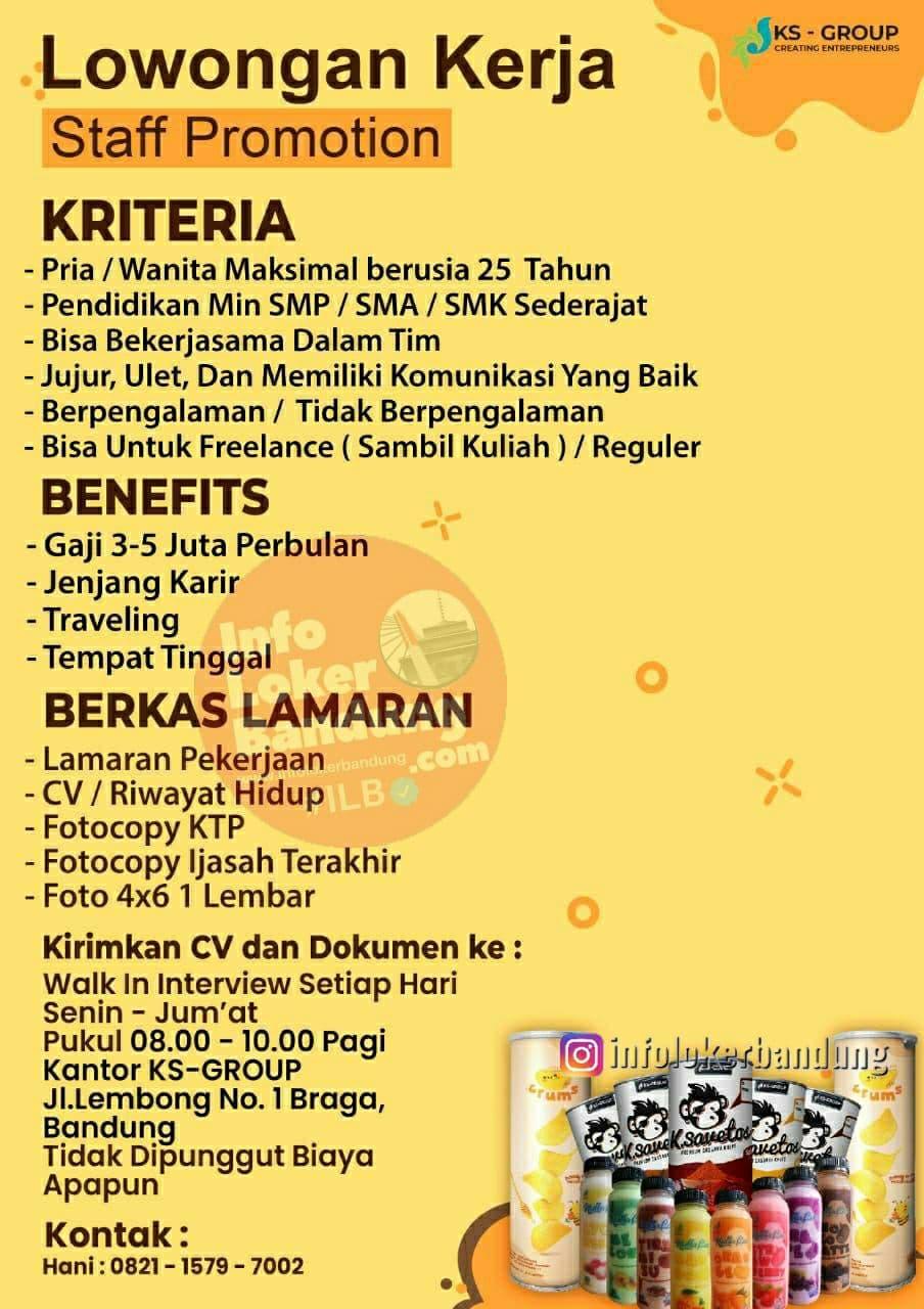 Lowongan Kerja KS Group Bandung Agustus 2021