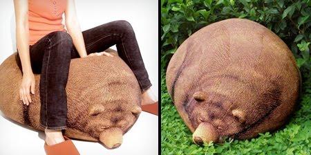 Excellent Cool Sleeping Bear Bean Bag Unusual Things Machost Co Dining Chair Design Ideas Machostcouk