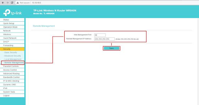 Remote Management TP-Link TL-WR840N