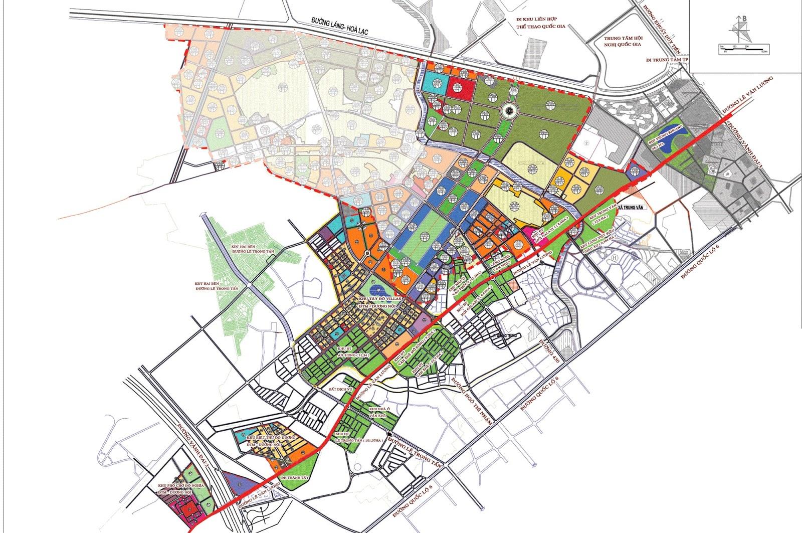 Vị trí hoàn hảo của dự án đô thị Dương Nội.