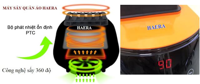 Bộ tản nhiệt máy sấy quần áo Haera 868UV Nhật Bản, quần áo khô nhanh, lưu giữ hương thơm