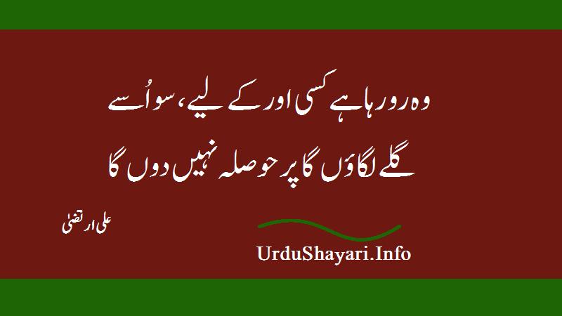 Wo Ro Raha Hay Sad Shayari - Ali Irtiza Poetry 2 Lines  - علی ارتضیٰ شاعری