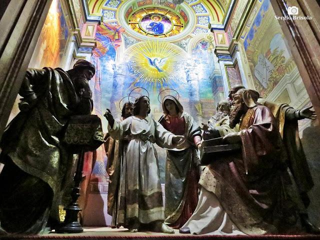 Close-up de Grupo escultórico na Paróquia Sagrado Coração de Jesus - Campos Elíseos - São Paulo
