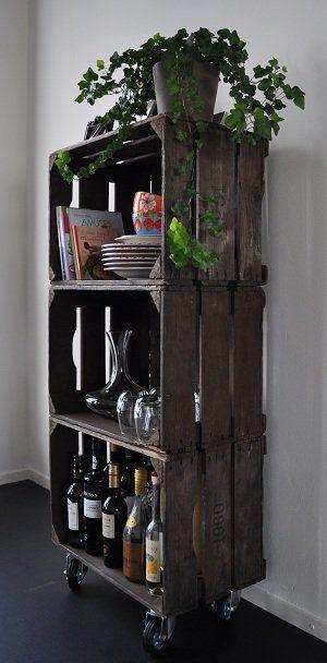ideas para decorar con cajas de fruta madera