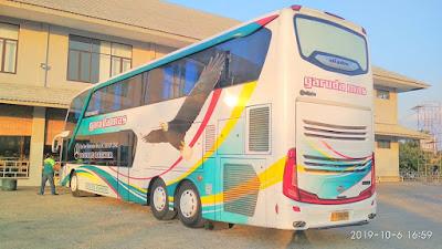 Foto Bus Garuda Mas Tingkat DD Belakang
