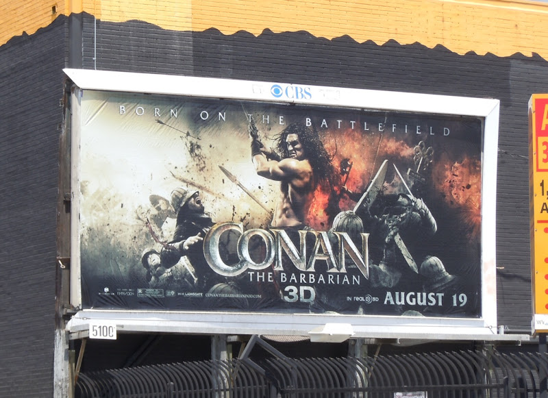 Conan the Barbarian movie billboard