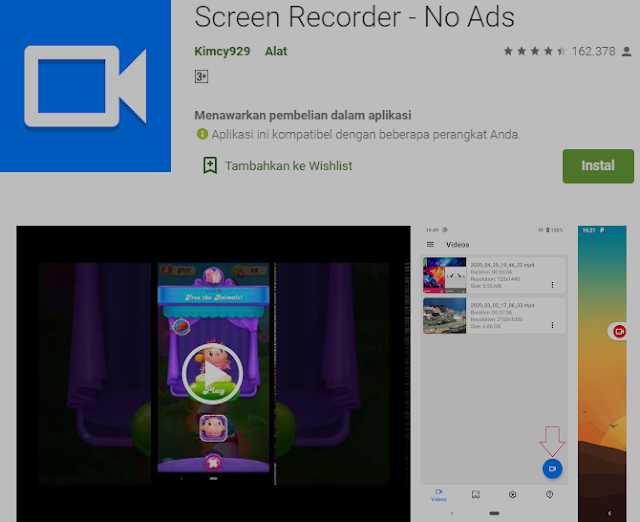 Aplikasi Gratis untuk Merekam Layar Anda di Android. 4
