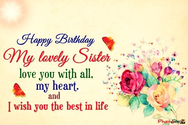 happy birthday sister status, happy birthday greetings for sister, happy birthday sister quotes, happy birthday to my sister