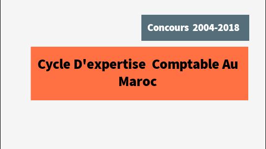 concours d'expertise comptable iscae pdf  tous les anales 2004- 2018