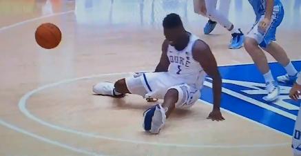 Zion Williamson broken shoe