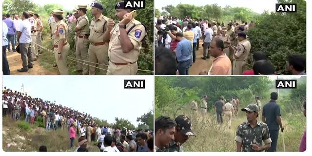 हैदराबाद गैंगरेप के चारों आरोपियों को पुलिस ने एनकाउंटर में मार गिराया.