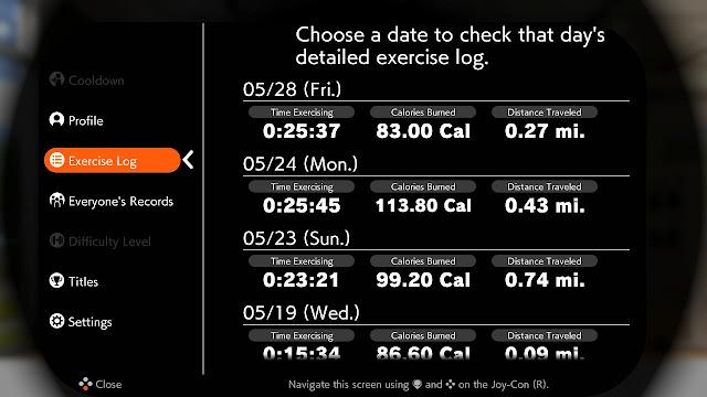 Ring Fit Adventure Exercise Log Week World 41