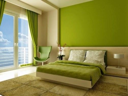ide Warna Cat Rumah Modern hijau