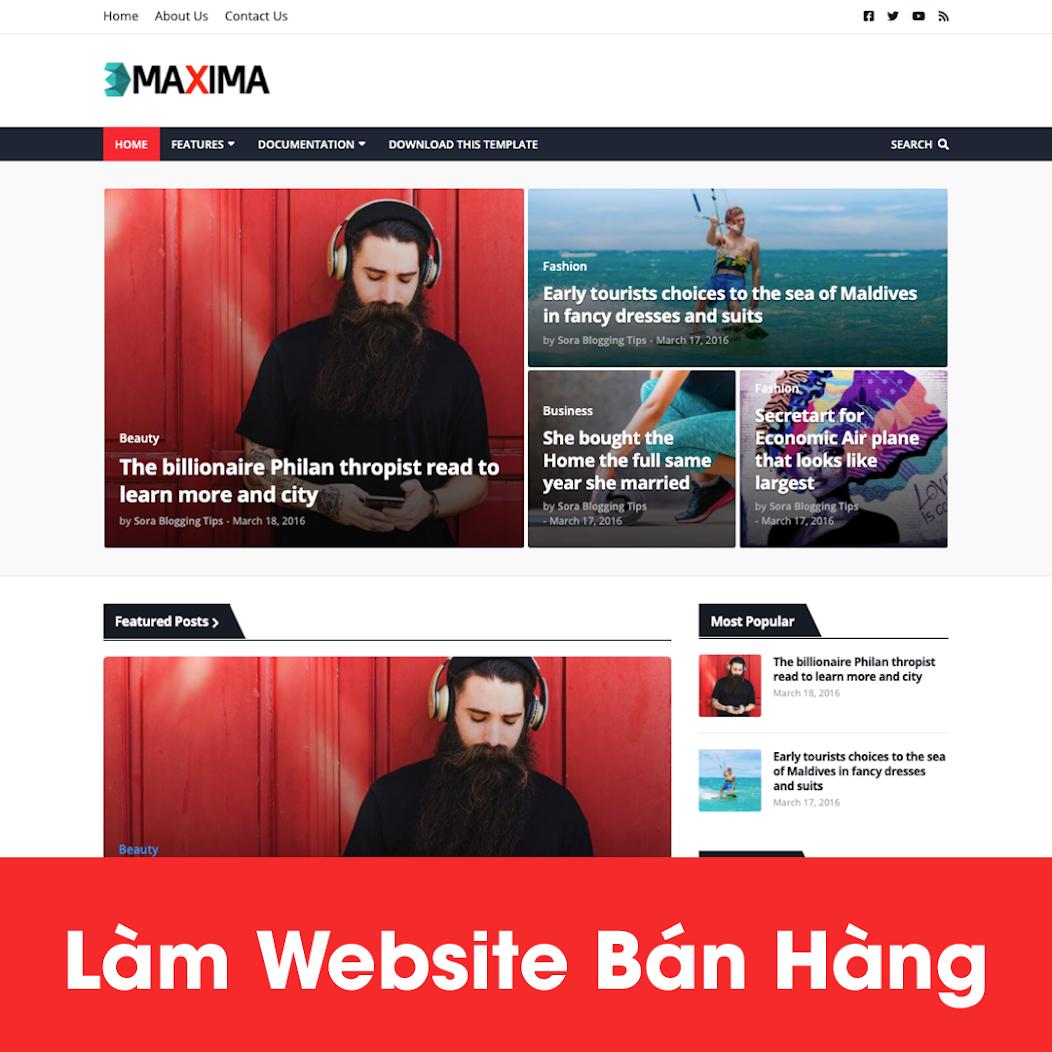 [A121] Thiết kế website bán hàng nội thất giao diện đẹp, hút khách