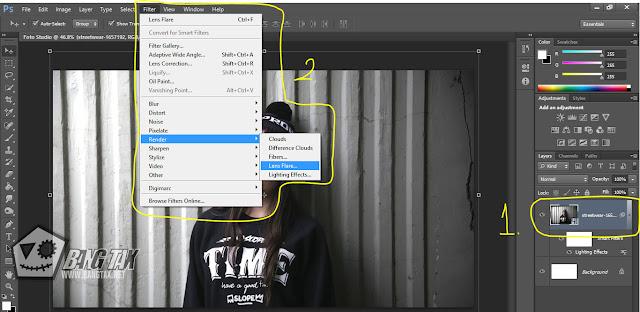 Cara Membuat Efek Lighting Seperti Foto Studio Di Photoshop