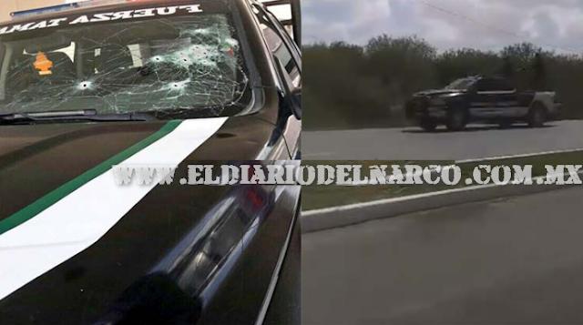 VIDEO; SICARIOS DEL CÁRTEL DEL GOLFO ATACAN A POLICÍAS EN REYNOSA Y SE DAN A LA FUGA EN UNA PERSECUCIÓN