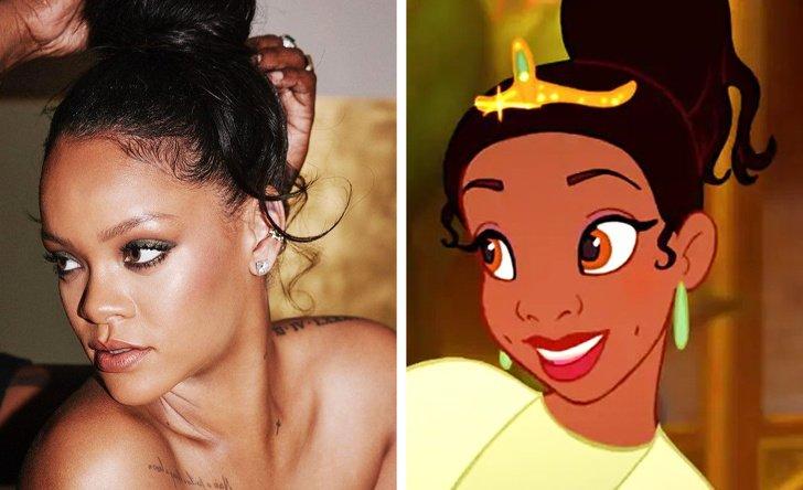 Rihanna como Tiana, de A Princesa e o Sapo