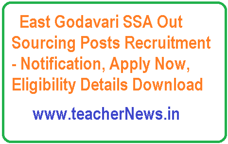 East Godavari SSA Out Sourcing Posts Recruitment 2018- Notification, Apply Now