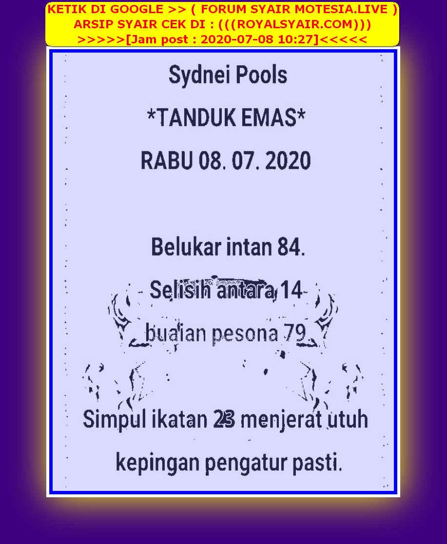 Kode syair Sydney Rabu 8 Juli 2020 56